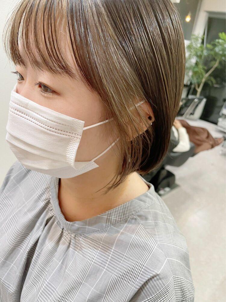 【GoofyTokyo銀座/渋谷トモヒロ】インナーカラー/フェイスフレーミング/グレージュ/ボブ