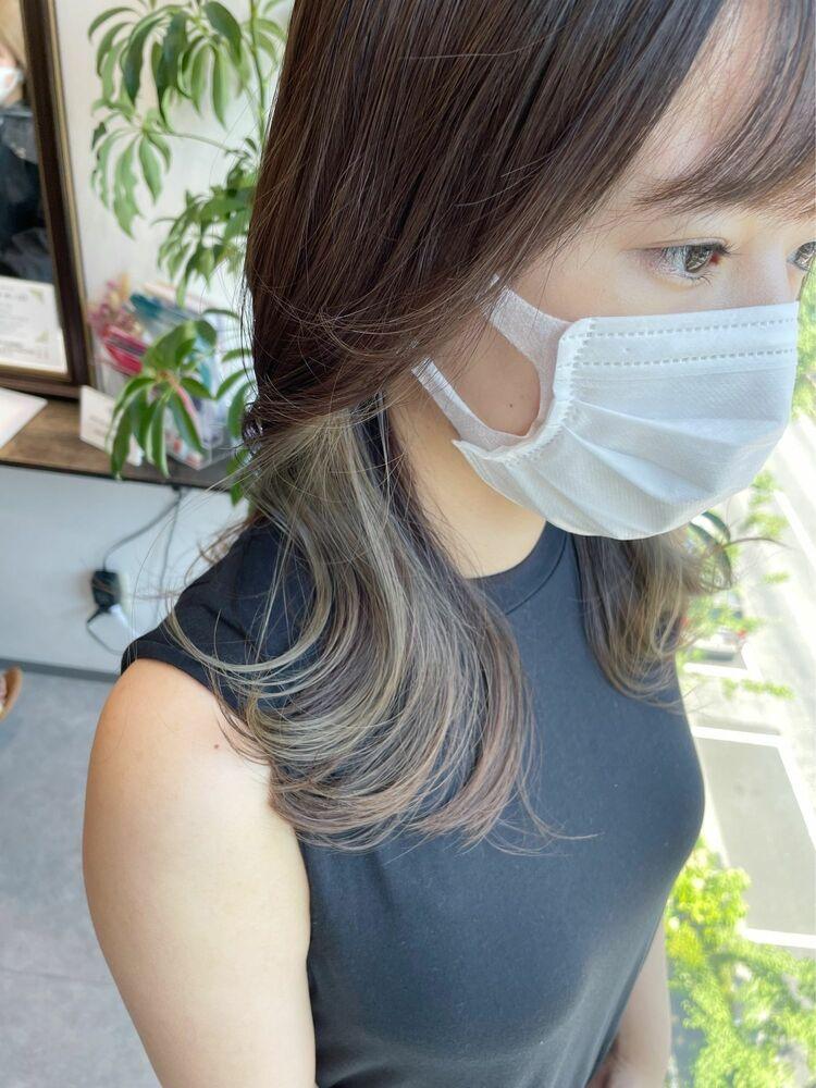 【GoofyTokyo銀座/渋谷トモヒロ】インナーカラーグレージュ/カーキグレージュ