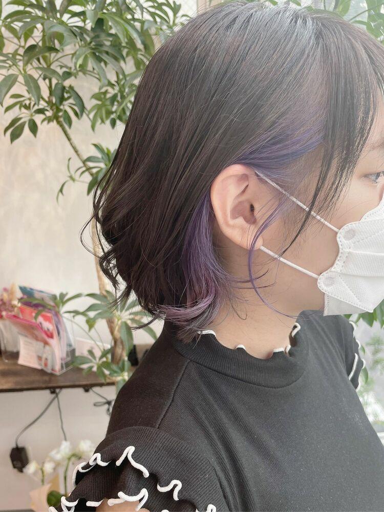 【GoofyTokyo銀座/渋谷トモヒロ】イヤリングカラーパープル/ラベンダーインナー