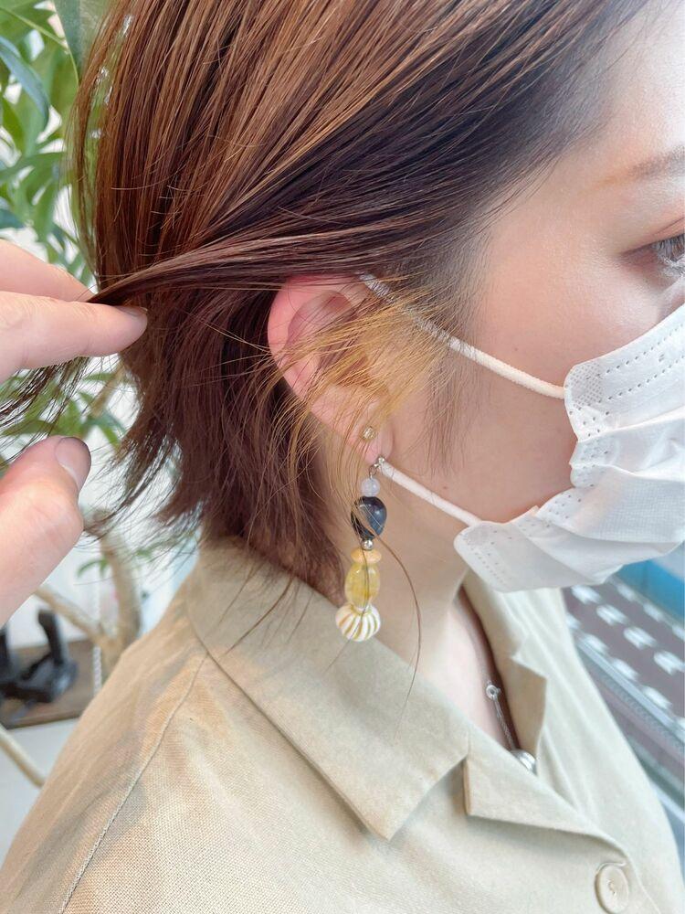 【GoofyTokyo銀座/渋谷トモヒロ】インナーカラー/イヤリングカラー/もみリングカラー/黄色