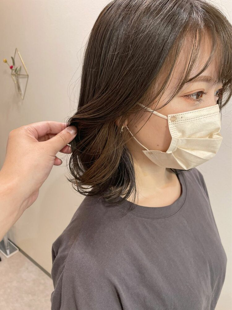 【GoofyTokyo銀座】ナチュラルインナーカラー/フェイスフレーミング/渋谷トモヒロ