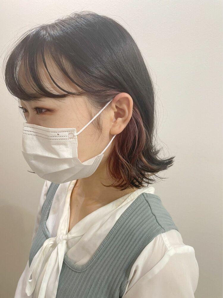 【GoofyTokyo銀座/渋谷トモヒロ】ピンクインナーカラー/インナーカラーピンク