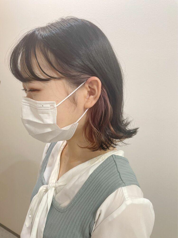 【GoofyTokyo銀座/渋谷トモヒロ】インナーカラーピンク/ピンクインナー