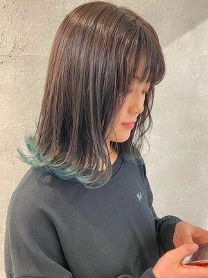 裾カラーブルー!