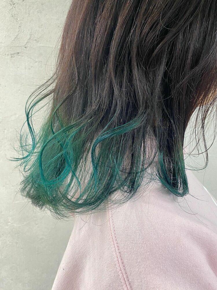 裾カラーグリーン!