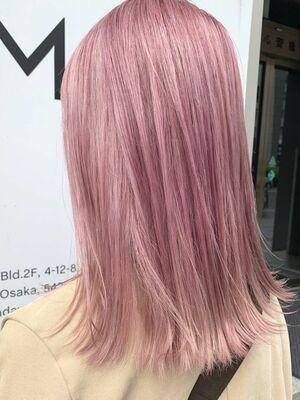 ペールピンクの春カラー