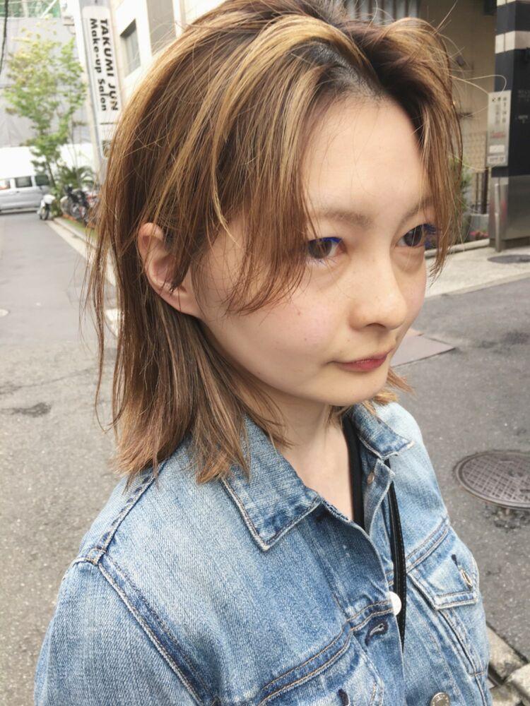 ハイライト/伸ばしかけヘア