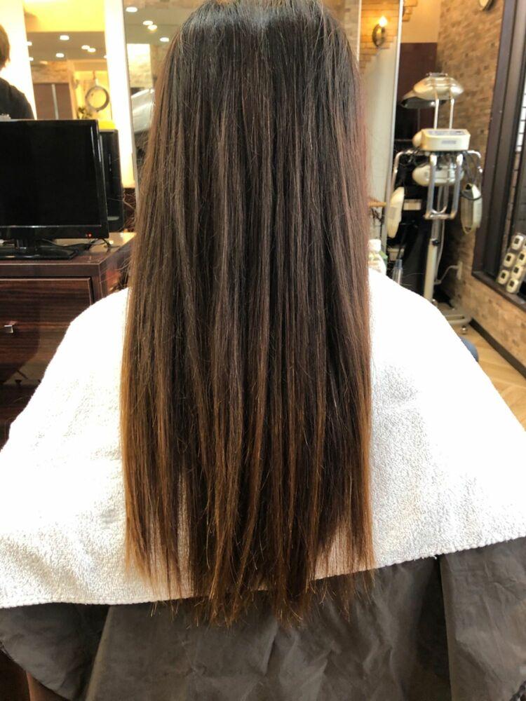 グラデーショングレージュカラー🤍SHISEIDO髪質改善と組み合わせて艶ブリーチカラーに✨