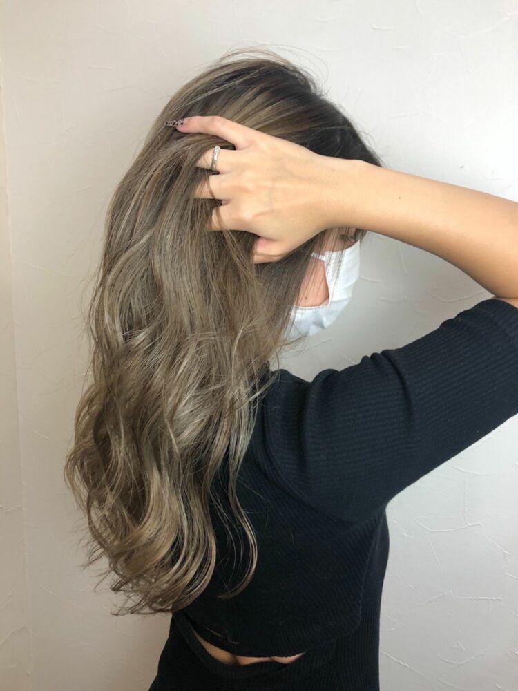 バレイヤージュ×髪質改善トリートメント♪人気のブリーチカラーと資生堂髪質改善を組み合せました♪