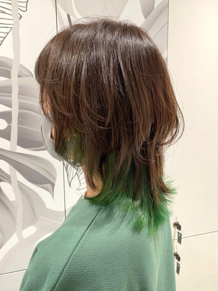デザインカラー × ミディアムウルフ