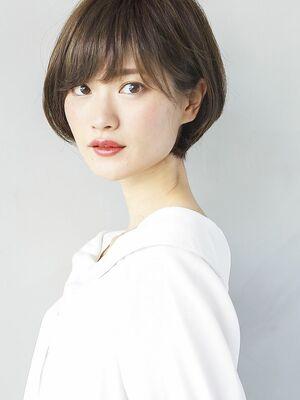 『 グレージュ ×  透け感 』丸みショート 流しバング☆