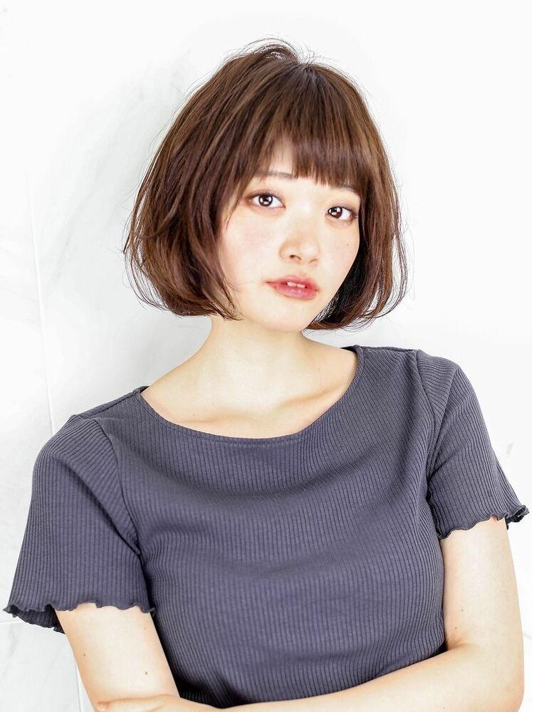 ☆ ナチュラルグレージュ & 毛束感 ☆小顔ボブ☆