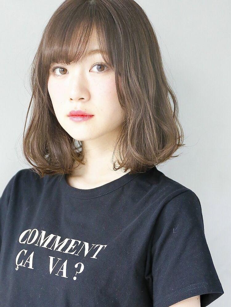 『グレージュ & 毛束感 』無造作小顔ひし形シルエット☆
