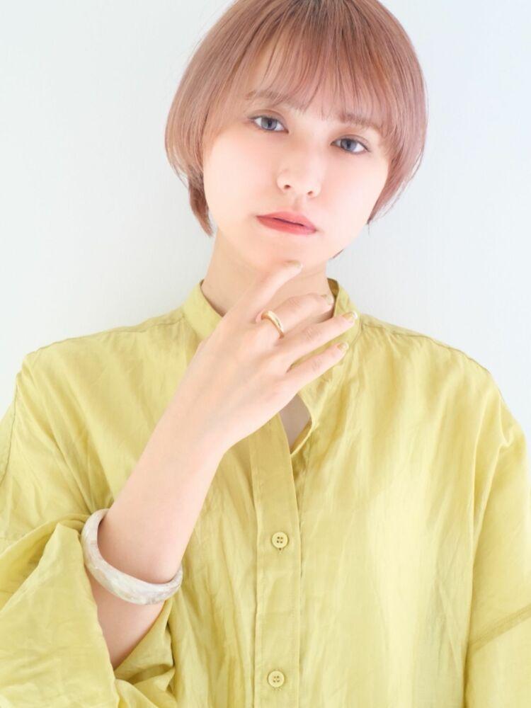 ☆ 似合わせカット × ピンクグレージュ☆ひし形シルエット ♪