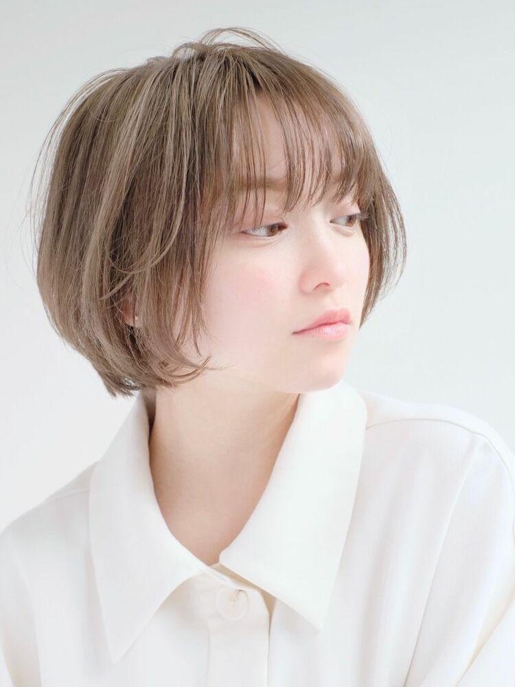 ☆ ベージュ & 透明感カラー ☆小顔ショートボブ☆