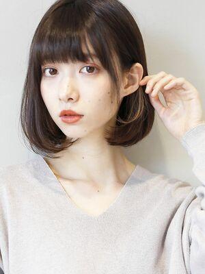 ダークブラウン × デザインカラー 』 外国人風ボブディ☆