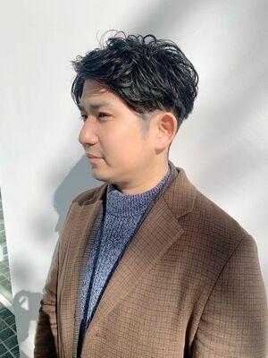 U-REALM 新屋 メンズオススメ◎ツーブロックセンター分けショート