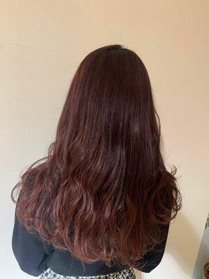 ピンクブラウン巻き髪ロングスタイルInstagram→@kzoo1120