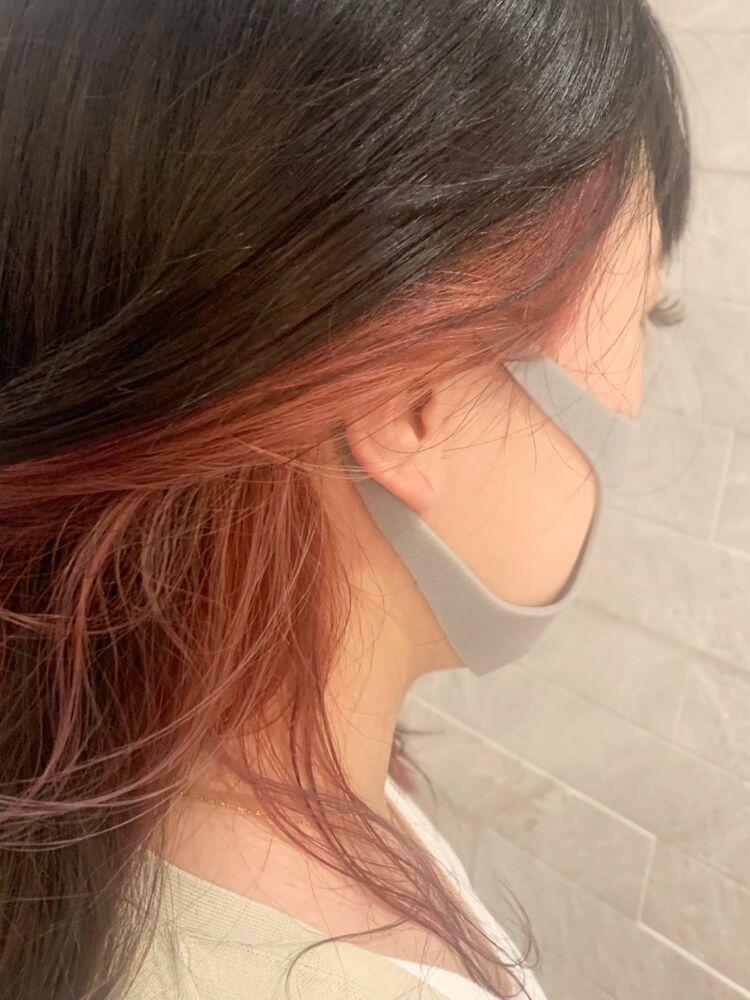 インナーカラー♪ピンク