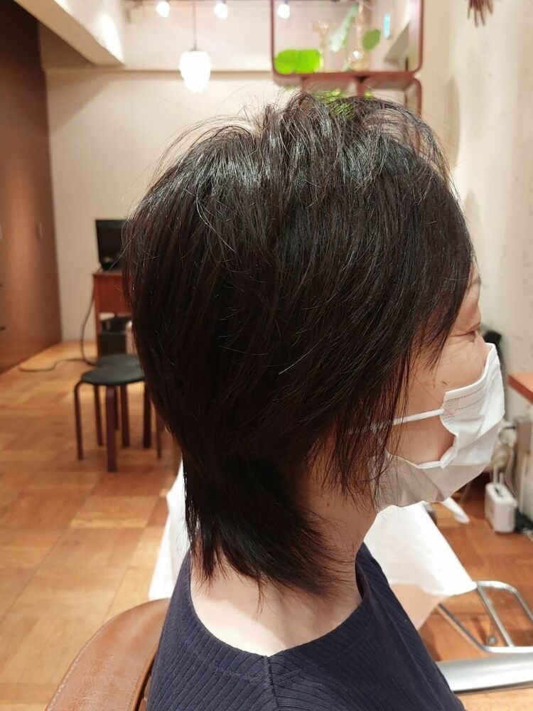 #表参道プライベートサロン50代ミディアムヘア