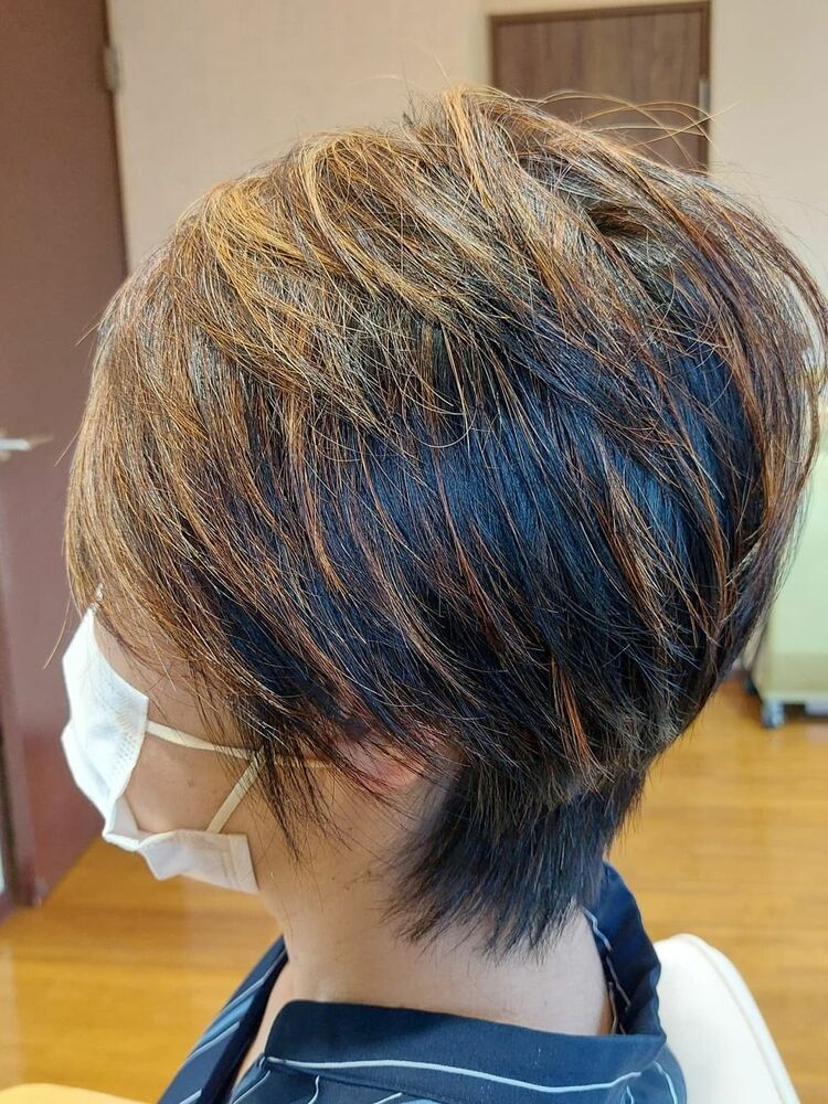 #表参道プライベートヘアサロン50代ショートスタイル
