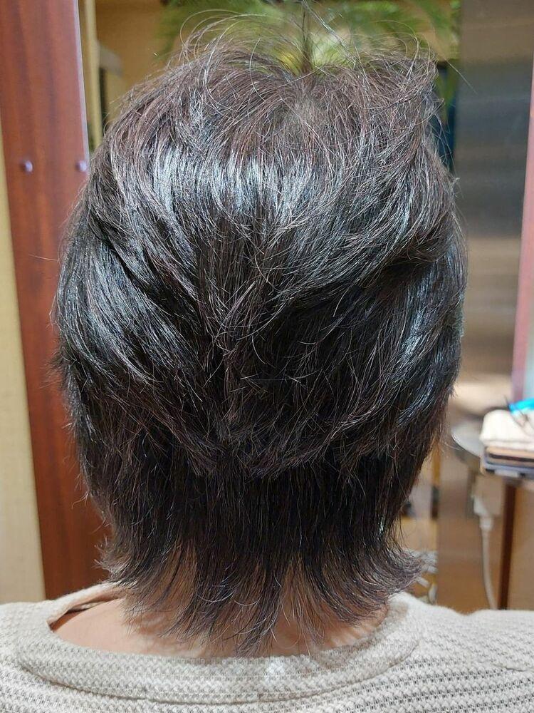 60代ミディアムヘア表参道プライベートヘアサロン