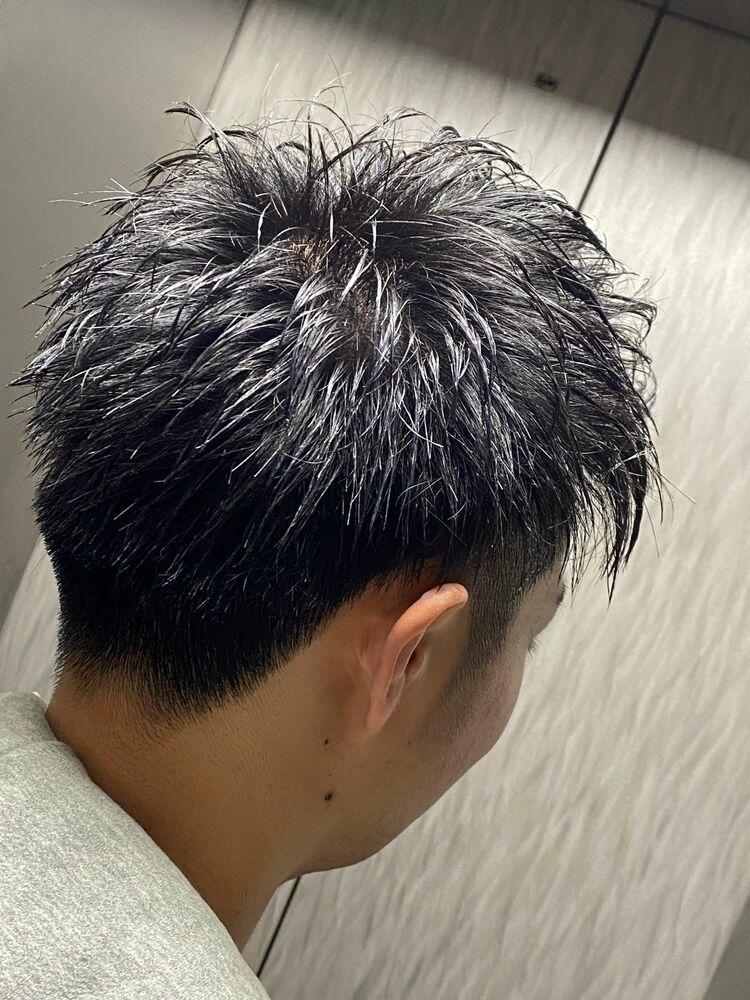 剛毛でも横を張らせない!なおかつトップも自然なふんわりショートスタイル!