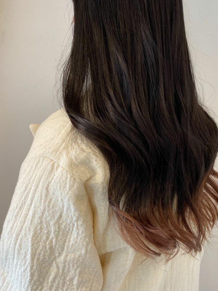 地毛×裾カラー