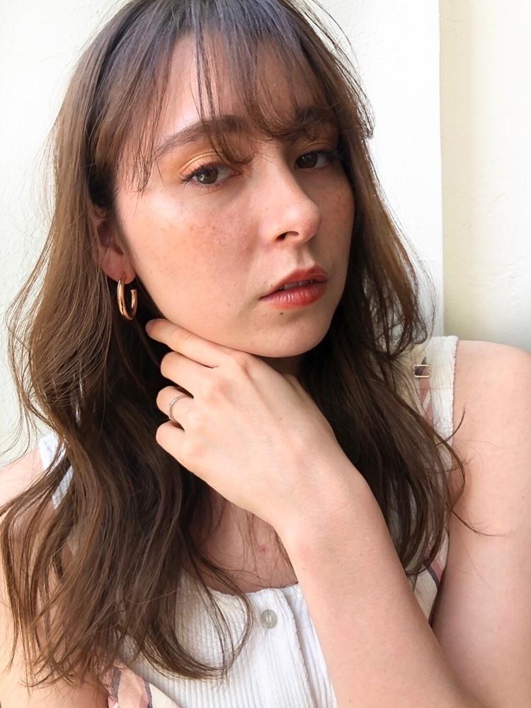 joemi by unami  新宿/手嶋紗耶/やわからいミディアムヘア×透明感たっぷりのツヤカラー