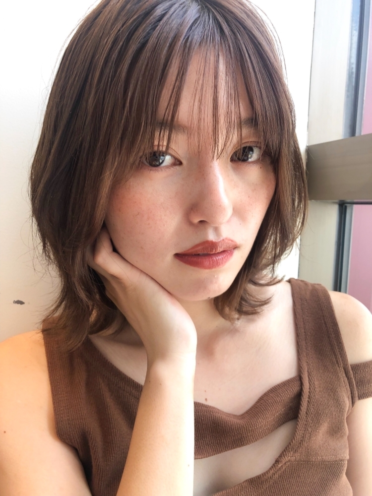joemi by unami 新宿/手嶋紗耶/くびれボブ×シースルーバング