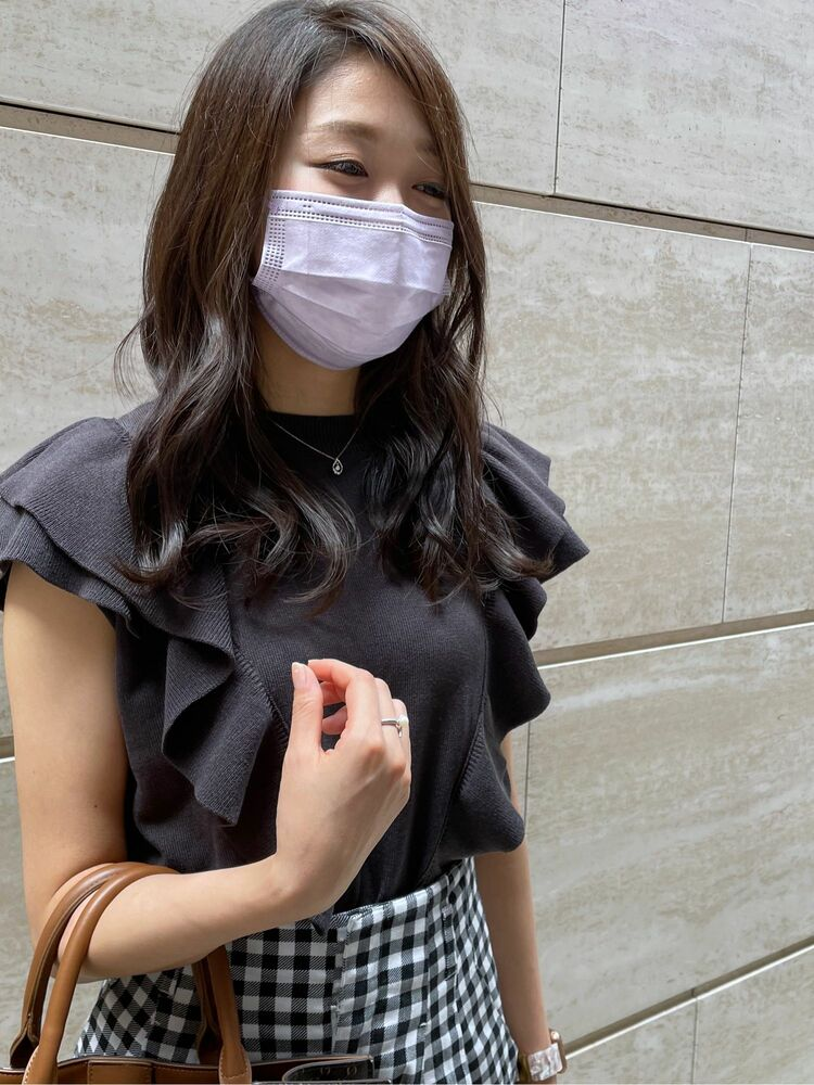 韓国風の巻きスタイル