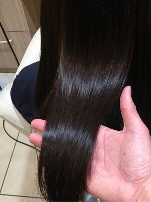 ナチュラル縮毛矯正×プレミアム縮毛×チョコレートブラウン