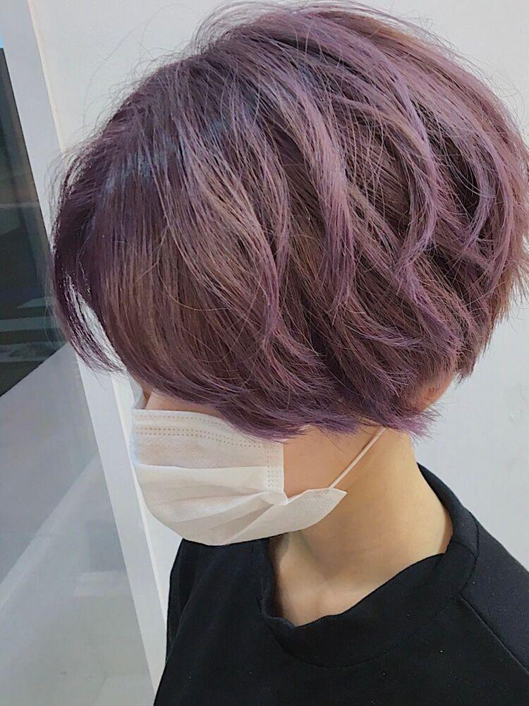 ショートヘア ピンクパープル