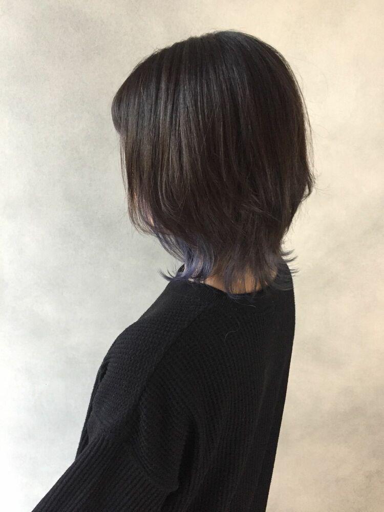 マッシュウルフ裾ブルー