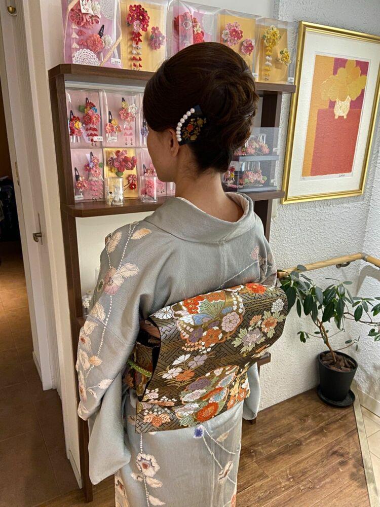 七五三ママの訪問着フルレンタルand和装アップスタイル