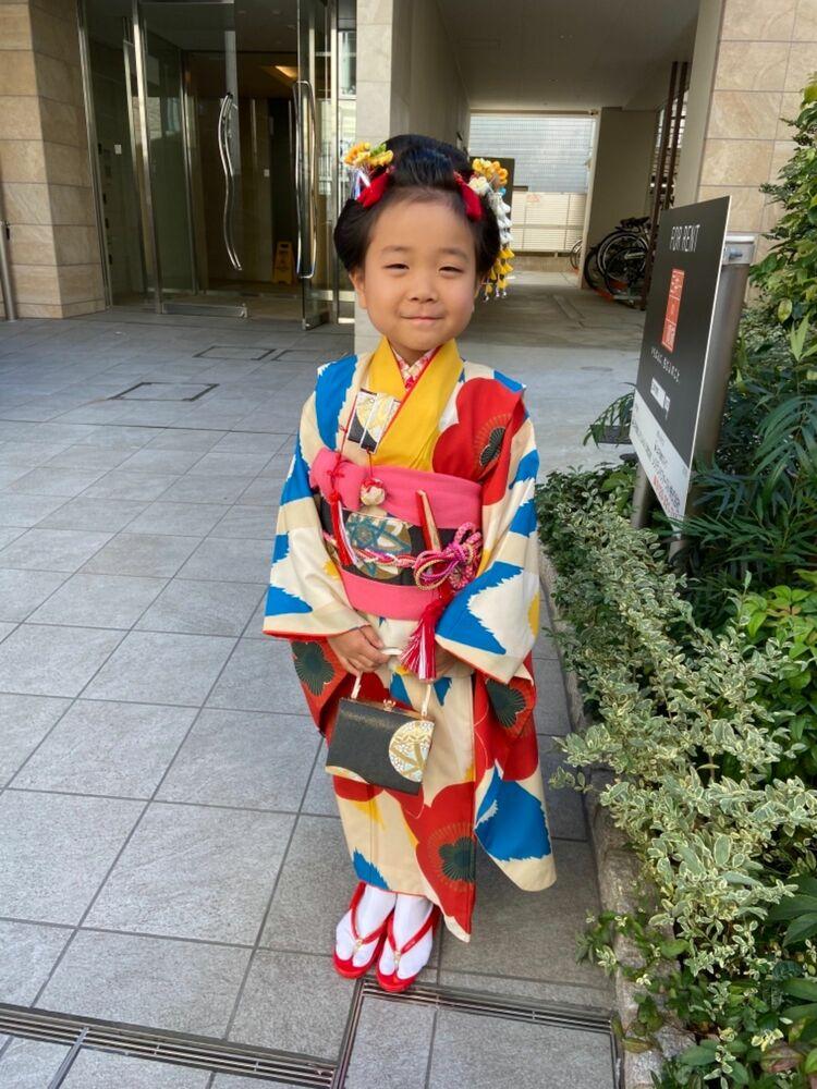 可愛い七五三7歳は是非とも新日本髪で★髪飾りはレンタルで着物に合わせてコーディネート