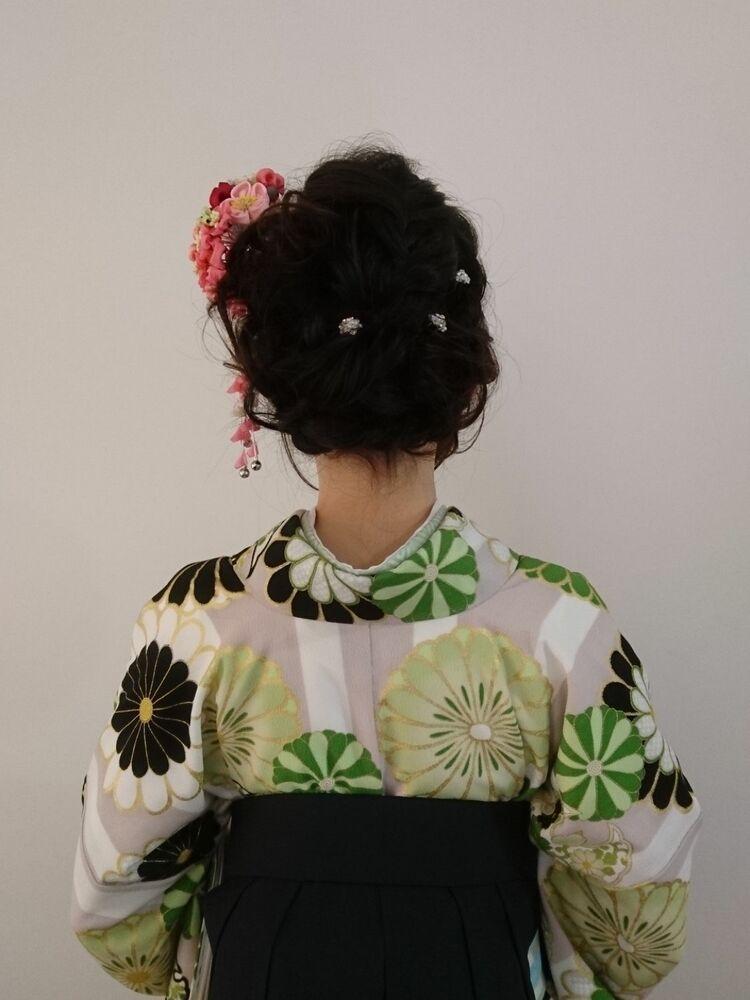 大人かわいい卒業袴の着付けandヘアメイク★