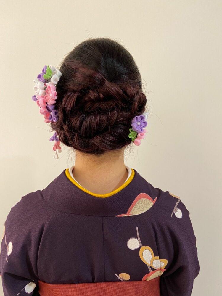 [矢島美容室西荻窪店]下目の上品艶やか和装アレンジ★卒業袴のヘアメイクand袴着付け
