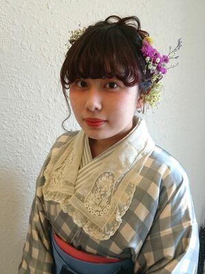 卒業袴の編み込みヘア&メイク&袴のレンタル着付け★