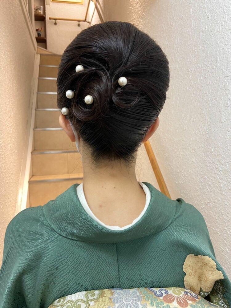 卒業生ママのヘアメイク&訪問着着付け★周りからも褒められて、着て良かった!と嬉しい口コミ頂きました!