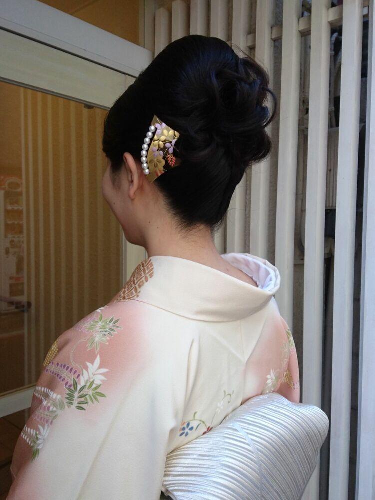 結婚式の結納の為のヘアメイク&着付け★上品な和装のお支度
