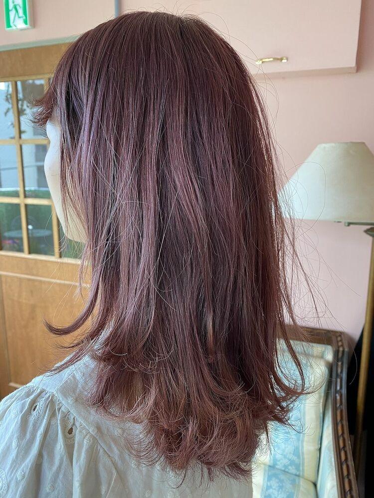 ふんわりロングの可愛いピンクヘア/YARD藤沢/濱田裕樹