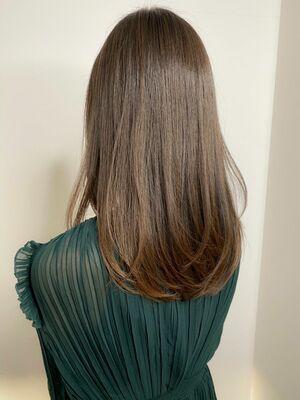 つや髪髪質改善トリートメント×グレージュレイヤーカット
