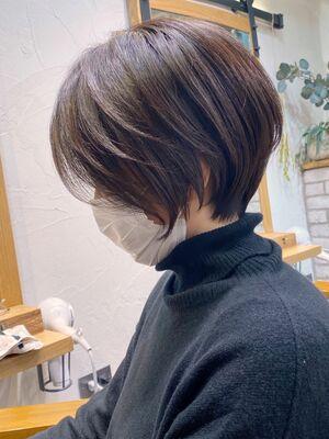 美シルエット×立体感×絶壁解消くびれショートボブ→担当BISA