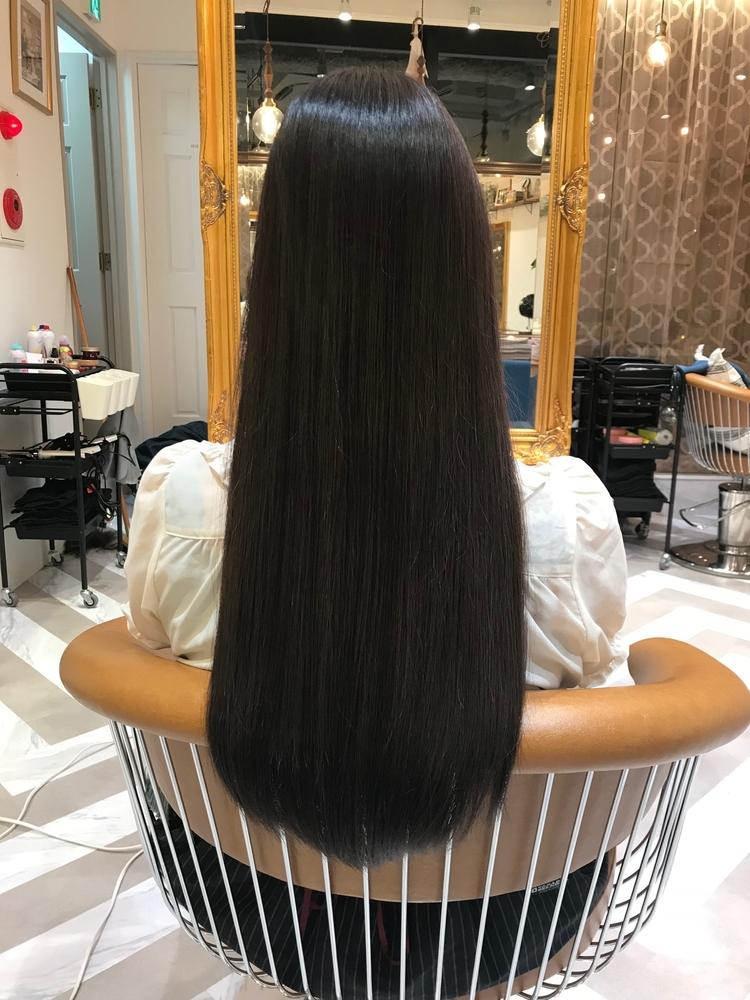 (米倉和寿)ナチュラルストレートパーマブローで作り上げる縮毛矯正