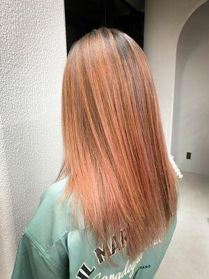 オシャレ可愛い暖色カラー×エアタッチ☆
