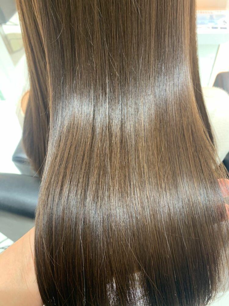 髪質改善 酸熱トリートメント アッシュブラウン