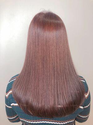 ツヤ髪 ラベンダーピンク