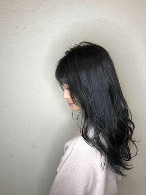 艶髪×暗髪の大人可愛いスタイル♪