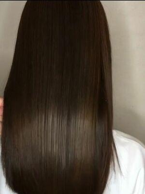 髪質改善トリートメントダークトーングレージュ。